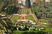 Israel, Haifa, The gardens of the Bahai Shrine
