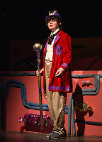 "Ryan Witham as Willy Wonka in Gilford Middle School's dress rehearsal for ""Willy Wonka"" on Monday evening.  (Karen Bobotas/for the Laconia Daily Sun)"