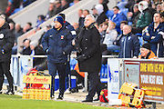Hartlepool manager Dave Jones late in the second half  during the EFL Sky Bet League 2 match between Colchester United and Hartlepool United at the Weston Homes Community Stadium, Colchester, England on 25 February 2017. Photo by Ian  Muir.