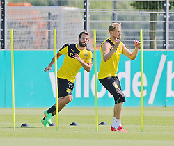 30.06.2015, Trainingsanlage, Dortmund, GER, 1. FBL, Borussia Dortmund, Trainingsauftakt, im Bild v.l. Gonzalo Castro (Dortmund) und Oliver Kirch (Dortmund) beim Lauftraining // during a traning session of German 1st Bundeliga Club Borussia Dortmund at Trainingsanlage Borussia Dortmund in Dortmund, Germany on 2015/06/30. EXPA Pictures © 2015, PhotoCredit: EXPA/ Eibner-Pressefoto/ Hommes<br /> <br /> *****ATTENTION - OUT of GER*****