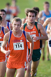 Clemson Tigers Will Noble (114)..The Atlantic Coast Conference Cross Country Championships were held at Panorama Farms near Charlottesville, VA on October 27, 2007.  The men raced an 8 kilometer course while the women raced a 6k course.