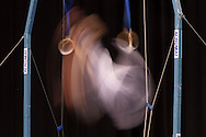 Rings, May 24, 2014 - GYMNASTICS : Australian National Gymnastics Championships, Hisense Arena, Melbourne, Victoria, Australia. Credit: Lucas Wroe / Winkipop Media