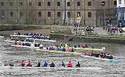 London, Great Britain.<br /> Crews marshall by the Ship PH. 2016 Veterans&rsquo; Head of the River Race, Reverse Championship Course Mortlake to Putney. River Thames. Sunday  20/03/2016<br /> <br /> [Mandatory Credit: Peter SPURRIER;Intersport images]