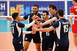 20170524 NED: 2018 FIVB Volleyball World Championship qualification, Koog aan de Zaan<br />Team Greece celebrate a point of Mittag Tzourits (2) of Greece <br />©2017-FotoHoogendoorn.nl / Pim Waslander
