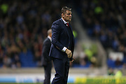 Bristol City manager Steve Cotterill during the Sky Bet Championship match between Brighton and Hove Albion and Bristol City at the American Express Community Stadium, Brighton and Hove, England on 20 October 2015.