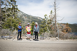 Local spectators enjoy the first, 117 km road race stage of the Amgen Tour of California - a stage race in California, United States on May 19, 2016 in South Lake Tahoe, CA.