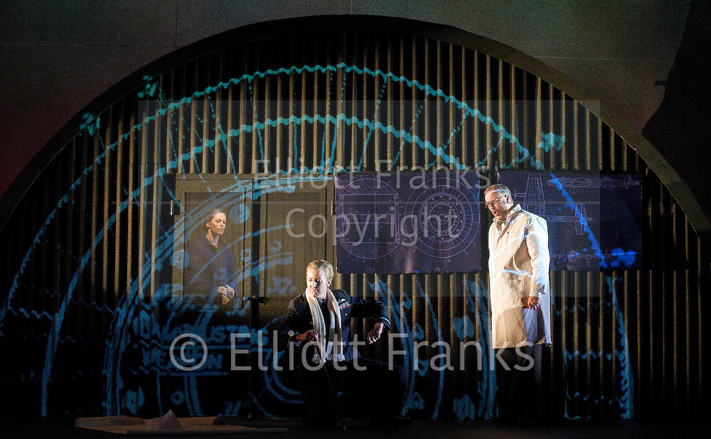 Xerxes<br /> by Handel<br /> translation by Nicholas Hytner<br /> English Touring Opera<br /> at The Royal College of Music, London, Great Britain <br /> 7th October 2011 <br /> <br /> Julia Riley (as Xerxes)<br /> Nicholas Merryweather (as Elviro)<br /> Rachael Lloyd (as Amastris)<br /> <br /> <br /> Photograph by Elliott Franks