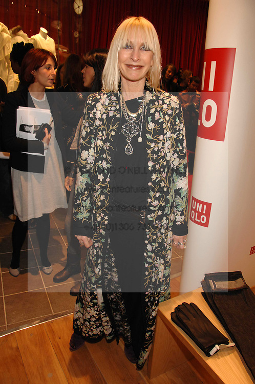 VIRGINIA BATES at a party to celebrate the opening of the new Uniqlo store at 331 Oxford Street, London W1 on 6th November 2007.<br /><br />NON EXCLUSIVE - WORLD RIGHTS