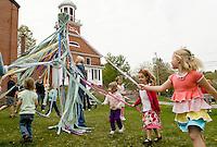 May Day festivities at Meredith Public Library May 1, 2010.
