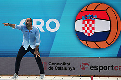 July 24, 2018 - Barcelona, Spain - the coach Ivica Tucak (Croacia) during the match between Croacia and Montenegro, corresponding to the women group stage of the European Water Polo Championship, on 19th July, 2018, in Barcelona, Spain. (Credit Image: © Joan Valls/NurPhoto via ZUMA Press)