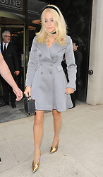 Singer Pixie Lott attends the Temperley London catwalk show during London Fashion Week Spring Summer 2015 in London, UK. 14/09/2014<br />BYLINE MUST READ : GOTCHAIMAGES.COM<br /><br />Copyright by © Gotcha Images Ltd. All rights reserved.<br />Usage of this image is conditional upon the acceptance <br />of Gotcha Images Ltd, terms and conditions available at<br />www.gotchaimages.com