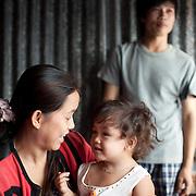 Family in Ganh Dau, Phu Quoc Island, Vietnam.