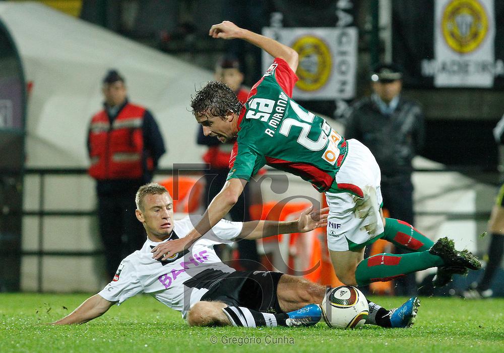 Liga Portuguesa, Estadio da Madeira.Nacional vs Maritimo.Skolnik e Miranda.Foto Gregorio Cunha