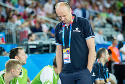 Jure Zdovc, head coach of Slovenia during basketball match between Croatia and Slovenia at Day 1 in Group C of FIBA Europe Eurobasket 2015, on September 5, 2015, in Arena Zagreb, Croatia. Photo by Vid Ponikvar / Sportida