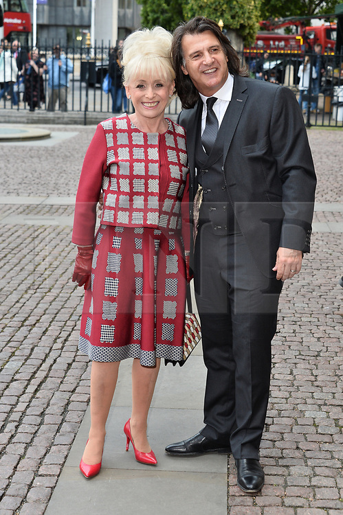 © Licensed to London News Pictures. 07/06/2017. London, UK. BARBARA WINDSOR and husband SCOTT MITCHELL attends a service of Thanksgiving for the life and work of RONNIE CORBETT at Westminster Abbey. The entertainer, comedian, actor, writer, and broadcaster was best known for his long association with Ronnie Barker in the BBC television comedy sketch show The Two Ronnies. Photo credit: Ray Tang/LNP