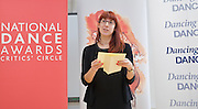 National Dance Awards.Announcement of Nominations.9th November 2012 .at The Place, London, Great Britain ..Time Out's dance editor Lyndsey Winship. ..Photograph by Elliott Franks..Tel 07802 537 220 .elliott@elliottfranks.com..2012©Elliott Franks.Agency space rates apply