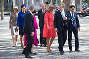 uUitreiking van de Four Freedoms Awards 2016 aan de Duitse bondskanselier Angela Merkel in de Nieuwe Kerk in Middelburg. De Four Freedom Awards is een prijs voor  de inzet van de vrijheid van meningsuiting, de vrijheid van godsdienst, de vrijwaring van gebrek en de vrijwaring van vrees.<br /> <br /> Presentation of the Four Freedoms Awards in 2016 to German Chancellor Angela Merkel in the Nieuwe Kerk in Middelburg. The Four Freedom Awards is a price for the use of freedom of expression, freedom of religion, freedom from want and freedom from fear.<br /> <br /> Op de foto / On the photo:  Aankomst Prinses Beatrix, koning Willem-Alexander, koningin Maxima en burgemeester Harald Bergmann <br /> <br /> Arrival Princess Beatrix, King Willem-Alexander, Queen Maxima and mayor Harald Bergmann