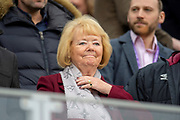 Ann Budge, owner of Heart of Midlothian watches from the stand before the 4th round of the William Hill Scottish Cup match between Heart of Midlothian and Livingston at Tynecastle Stadium, Edinburgh, Scotland on 20 January 2019.