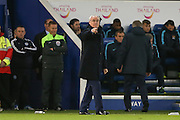 Leicester City Manager Claudio Ranieri  during the Barclays Premier League match between Leicester City and Manchester City at the King Power Stadium, Leicester, England on 29 December 2015. Photo by Simon Davies.