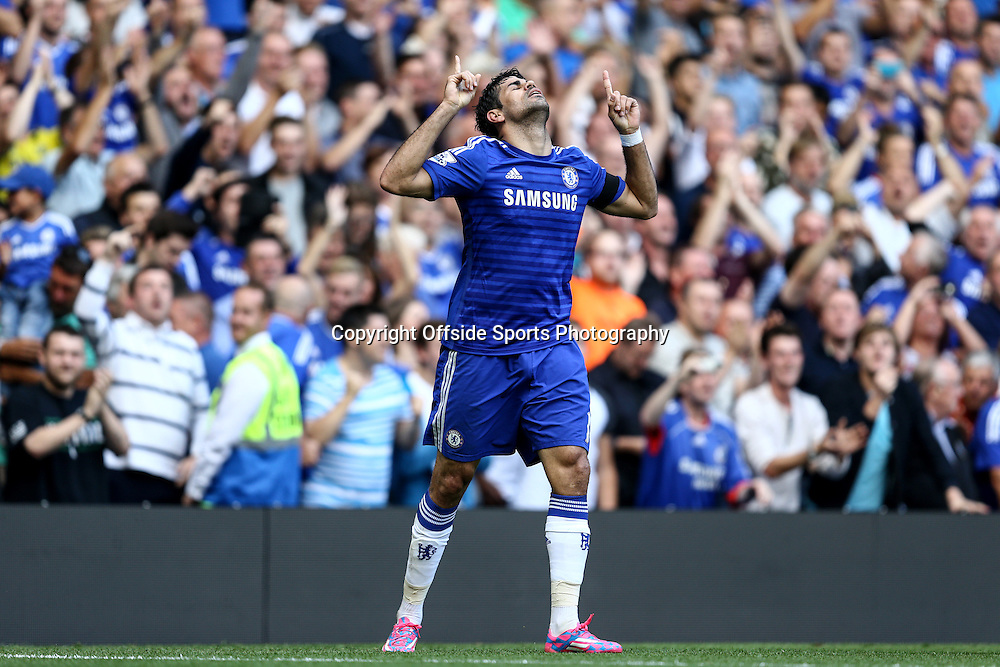 13 September 2014 - Barclays Premier League - Chelsea v Swansea City - Diego Costa of Chelsea celebrates - Photo: Marc Atkins / Offside.
