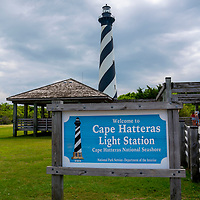 Cape Hatteras Lighthouse in the Cape Hatteras  National Seashore section of the Outer Banks, North Carolina, USA