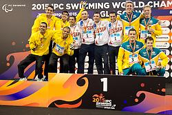 Team Brazil, Team Russia, Team Australia BRA, RUS, AUS at 2015 IPC Swimming World Championships -  Men's 4x100 Freestyle Relay 34PT