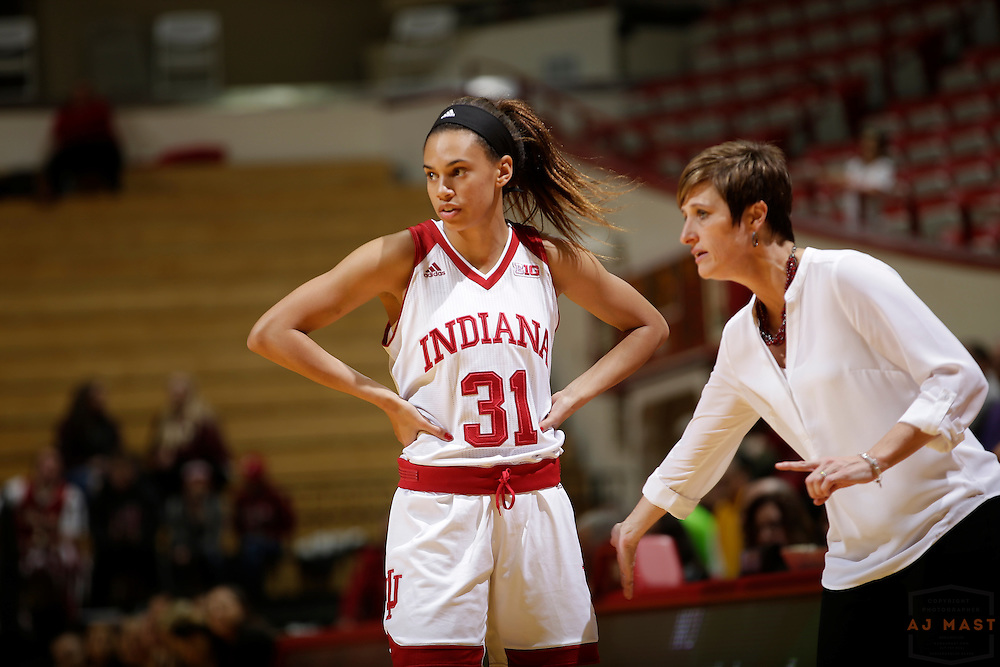 Indiana forward Bre Wickware (31) in action as Indiana played Northern Kentucky in an NCCA college basketball game in Bloomington, Ind., Thursday, Dec. 8, 2016. (AJ Mast)