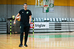 Jurica Golemac new head coach during his first practice with team KK Cedevita Olimpija on January 28, 2020 in Arena Stozice, Ljubljana, Slovenia. Photo By Grega Valancic / Sportida