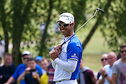South African golf professional Jaco Van Zyl  just misses with a long putt during the BMW PGA Championship at the Wentworth Club, Virginia Water, United Kingdom on 28 May 2016. Photo by Simon Davies.