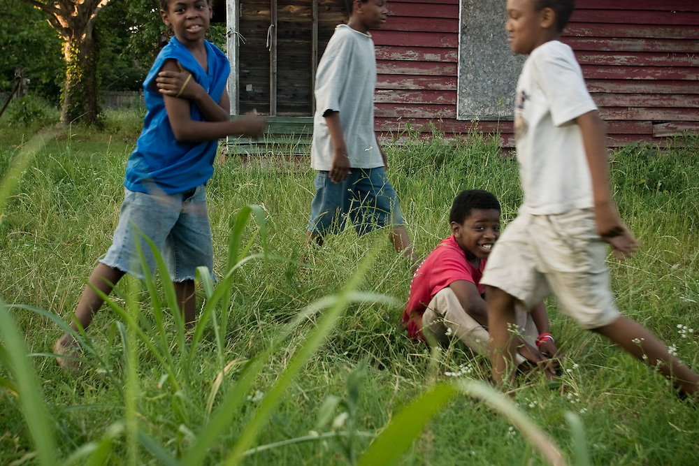 Pick-up football game, Clarksdale, Miss., 2006.<br /> Photo by D.L. Anderson