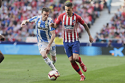 March 9, 2019 - Madrid, Madrid, Spain - Atletico de Madrid's Victor Machin 'Vitolo' and CD Leganes's Javier Eraso during La Liga match between Atletico de Madrid and CD Leganes at Wanda Metropolitano stadium in Madrid. (Credit Image: © Legan P. Mace/SOPA Images via ZUMA Wire)