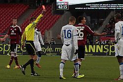 10.12.2011, easy Credit Stadion, Nuernberg, GER, 1.FBL, 1. FC Nürnberg/ Nuernberg vs TSG 1899 Hoffenheim, im Bild:rote Karte für Timothy Chandler (Nuernberg #26). // during the Match GER, 1.FBL, 1. FC Nürnberg/ Nuernberg vs TSG 1899 Hoffenheim on 2011/12/10, easy Credit Stadion, Nuernberg, Germany..EXPA Pictures © 2011, PhotoCredit: EXPA/ nph/ Will..***** ATTENTION - OUT OF GER, CRO *****