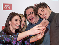 """Midlands Today presenter Rebecca Wood takes a selfie with Jo Joyner, Mark Benton and Patrick Walshe McBride stars of the brand new BBC Daytime drama Shakespeare & Hathaway – Private Investigators, is due to hit TV screens late February, 150 lucky people got the chance to view a private screening of the first episode.<br /> On Friday 9 February, The Other Place in Stratford-upon-Avon, an actual location featured in the drama, the venue to held the screening and, a special question and answer session hosted by Midlands Today presenter Rebecca Wood. She was joined by Jo Joyner, Mark Benton, Patrick Walshe McBride and the show's producer Ella Kelly.<br /> The ten-part drama from BBC Studios, created by Paul Matthew Thompson and Jude Tindall, will see Frank Hathaway (Benton), a hardboiled private investigator, and his rookie sidekick Luella Shakespeare (Joyner), form the unlikeliest of partnerships as they investigate the secrets of rural Warwickshire's residents.<br /> Beneath the picturesque charm lies a hotbed of mystery and intrigue: extramarital affairs, celebrity stalkers, missing police informants, care home saboteurs, rural rednecks and murderous magicians. They disagree on almost everything, yet somehow, together, they make a surprisingly effective team – although they would never admit it.<br /> Will Trotter, head of BBC Daytime Drama at the BBC Drama Village, comments, """"For years we have been producing quality drama at the BBC Drama Village, and Shakespeare & Hathaway is no different. It's the perfect programme to indulge in, and like many of the programmes that we make in Birmingham, we've been out and about in the county to film in some of the best locations the Midlands has to offer. <br /> """"We're looking forward to seeing the audience reactions to the first episode, it's got a whodunit storyline with a brilliant introduction to the main characters, but leaves you with some questions which makes the audience want to come back for more!"""" <br /> Notes to edit"""