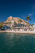 View over the port to the Monte Benacantil, Alicante, Spain