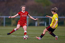 LIVERPOOL, ENGLAND - Sunday, February 4, 2018: Liverpool's Lucy Roberts during the Women's FA Cup 4th Round match between Liverpool FC Ladies and Watford FC Ladies at Walton Hall Park. (Pic by David Rawcliffe/Propaganda)