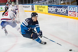 Antti Pihlstrom of Finland during the 2017 IIHF Men's World Championship group B Ice hockey match between National Teams of Norway and Finland, on May 13, 2017 in AccorHotels Arena in Paris, France. Photo by Vid Ponikvar / Sportida