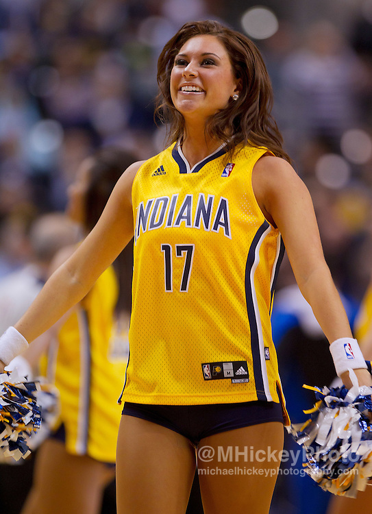 Indiana Pacers Pacemates cheerleading at Indiana Pacers game at Bankers Life Fieldhouse in Indianapolis, Indiana...Photo by Michael Hickey