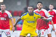 Terell Thomas of AFC Wimbledon (6) and Danny Andrew of Fleetwood Town (3) during the EFL Sky Bet League 1 match between Fleetwood Town and AFC Wimbledon at the Highbury Stadium, Fleetwood, England on 10 August 2019.