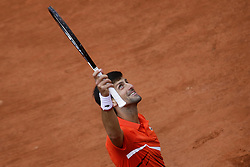 May 30, 2019 - Paris, France - Serbia's Novak Djokovic celebrates after winning against Switzerland's Henri Laaksonen during their men's singles second round match on day five of The Roland Garros 2019 French Open tennis tournament in Paris on May 30, 2019. (Credit Image: © Ibrahim Ezzat/NurPhoto via ZUMA Press)
