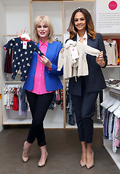 Joanna Lumley and Alesha Dixon launch Marks & Spencer's  new pop-up children's wear shop in London, Thursday, 6th March 2014. The shop called Shwop Boutique will sell items of clothing donated by celebrities.  Picture by Stephen Lock / i-Images