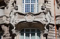 elegant balcony in Paris France in May 2008