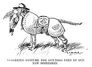 Suggested costume for gun-dogs used by our new sportsmen.