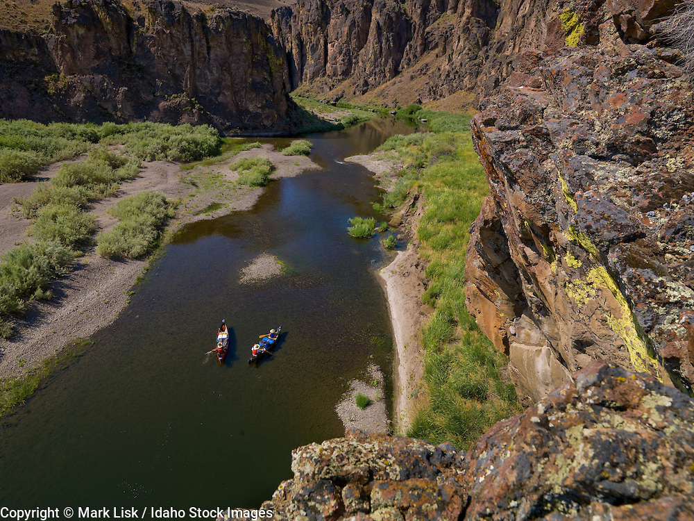 Canoeing the East Fork of the Owyhee river from Cruchers Crossing a popular launching point.