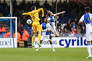 Millwall's Shaun Williams(6) and Bristol Rovers Stuart Sinclair(24) challenge for the ball during the EFL Sky Bet League 1 match between Bristol Rovers and Millwall at the Memorial Stadium, Bristol, England on 30 April 2017. Photo by Shane Healey.