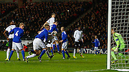 Picture by David Horn/Focus Images Ltd +44 7545 970036<br /> 14/11/2013<br /> Michael Keane of England Under 21 scores his team's first goal during the European U21 Championship match at stadium:mk, Milton Keynes.