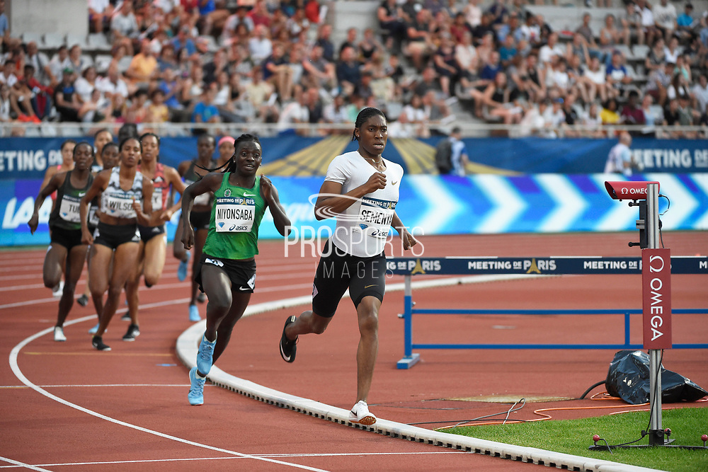 Caster Seremya (RSA) competes and wins in Women's 800m during the Meeting de Paris 2018, Diamond League, at Charlety Stadium, in Paris, France, on June 30, 2018 - Photo Jean-Marie Hervio / KMSP / ProSportsImages / DPPI