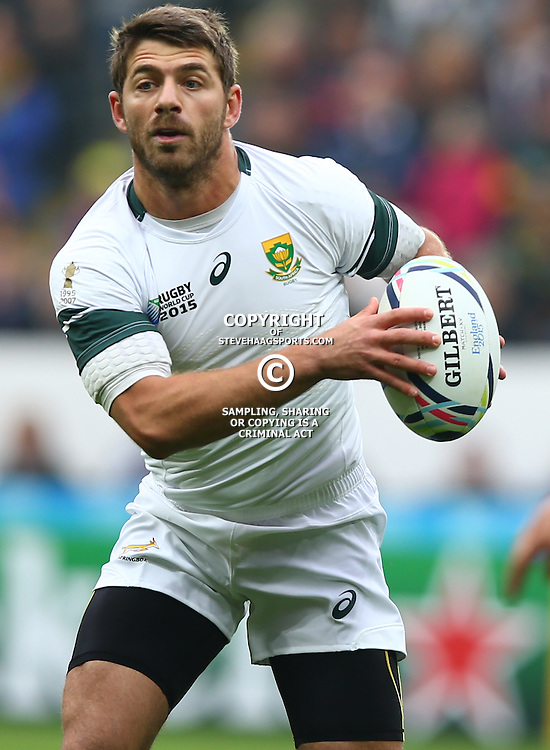 NEWCASTLE UPON TYNE, ENGLAND - OCTOBER 03: Willie le Roux of South Africa during the Rugby World Cup 2015 Pool B match between South Africa and Scotland at St James Park on October 03, 2015 in Newcastle upon Tyne, England. (Photo by Steve Haag/Gallo Images)