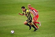 Phoenix player Liberato Cacace during their Hyundai A League match. Wellington Phoenix v Melbourne City FC. Westpac Stadium, Wellington, New Zealand. Saturday 26 January 2019. ©Copyright Photo: Chris Symes / www.photosport.nz