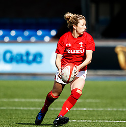 Elinor Snowsill of Wales<br /> <br /> Photographer Simon King/Replay Images<br /> <br /> Six Nations Round 5 - Wales Women v Ireland Women- Sunday 17th March 2019 - Cardiff Arms Park - Cardiff<br /> <br /> World Copyright © Replay Images . All rights reserved. info@replayimages.co.uk - http://replayimages.co.uk