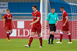 NUNEATON, ENGLAND - Sunday, July 30, 2017: Liverpool's Jordan Williams shows a look of dejection after PSV Eindhoven score the second goal to make the score 1-2 during a pre-season friendly between Liverpool and PSV Eindhoven at the Liberty Way Stadium. (Pic by Paul Greenwood/Propaganda)